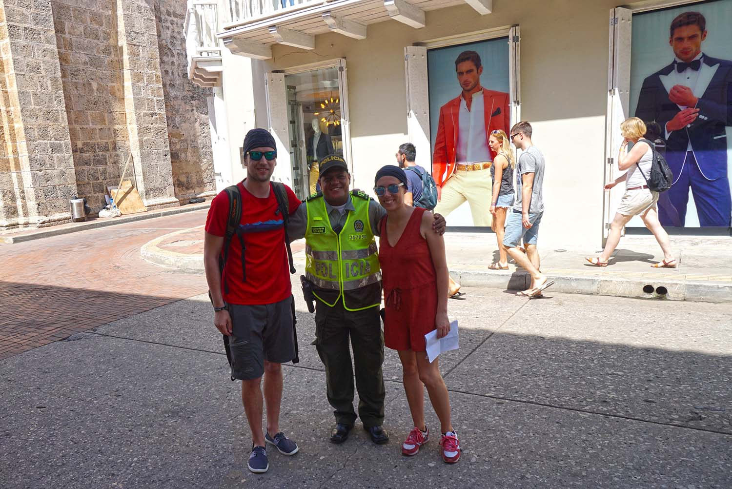 Police-guide in Cartagena, Colombia