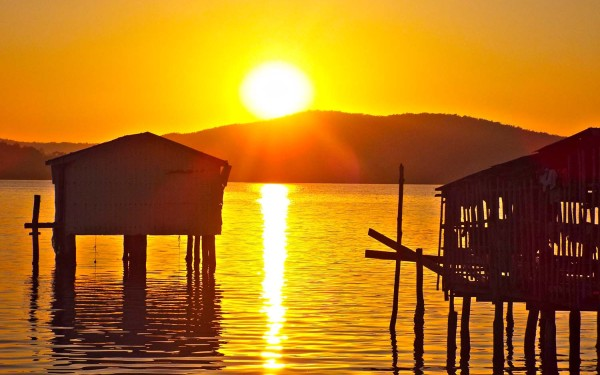 Koh Rong village sunset