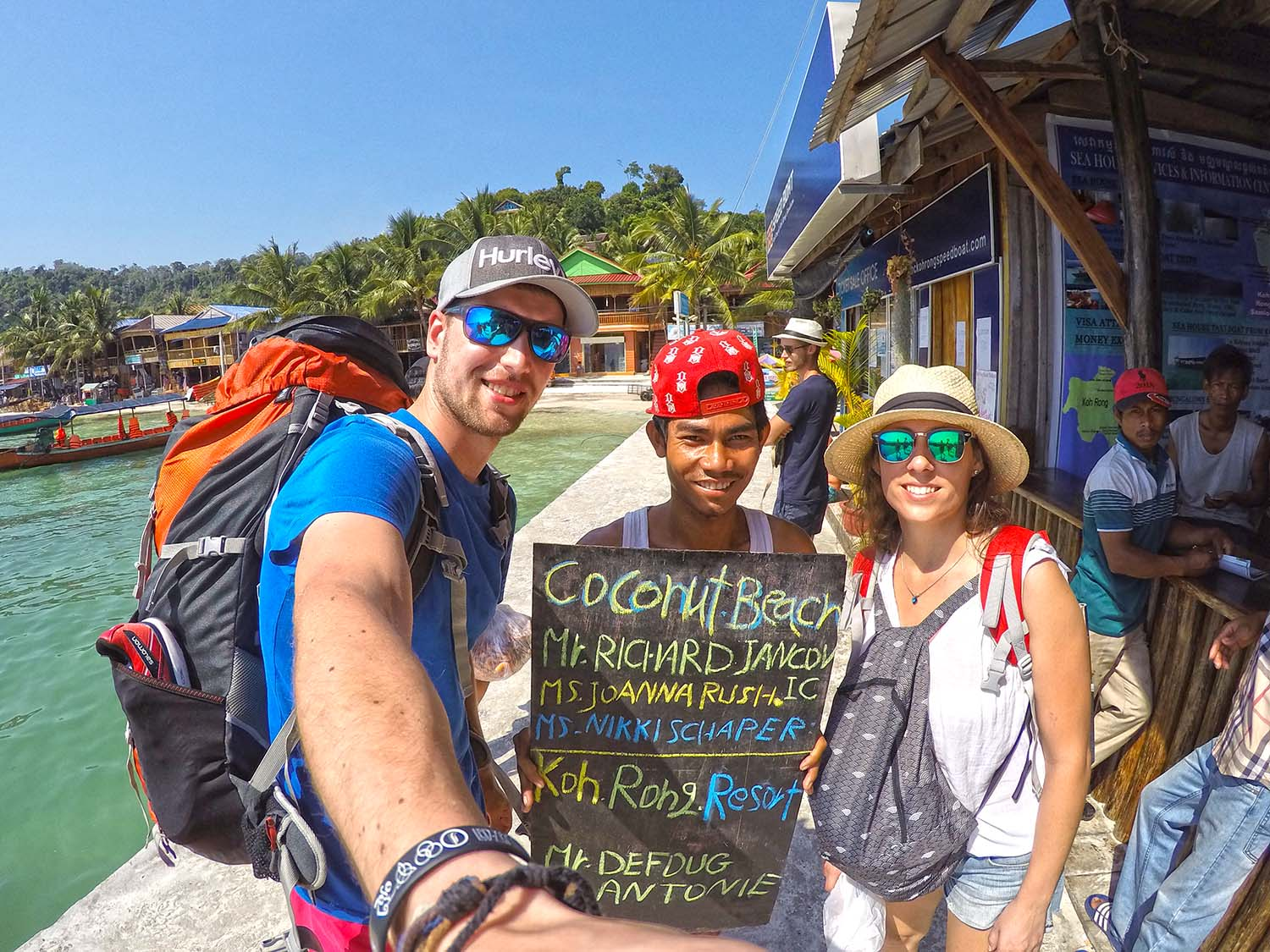 Kind welcome on Koh Rong.