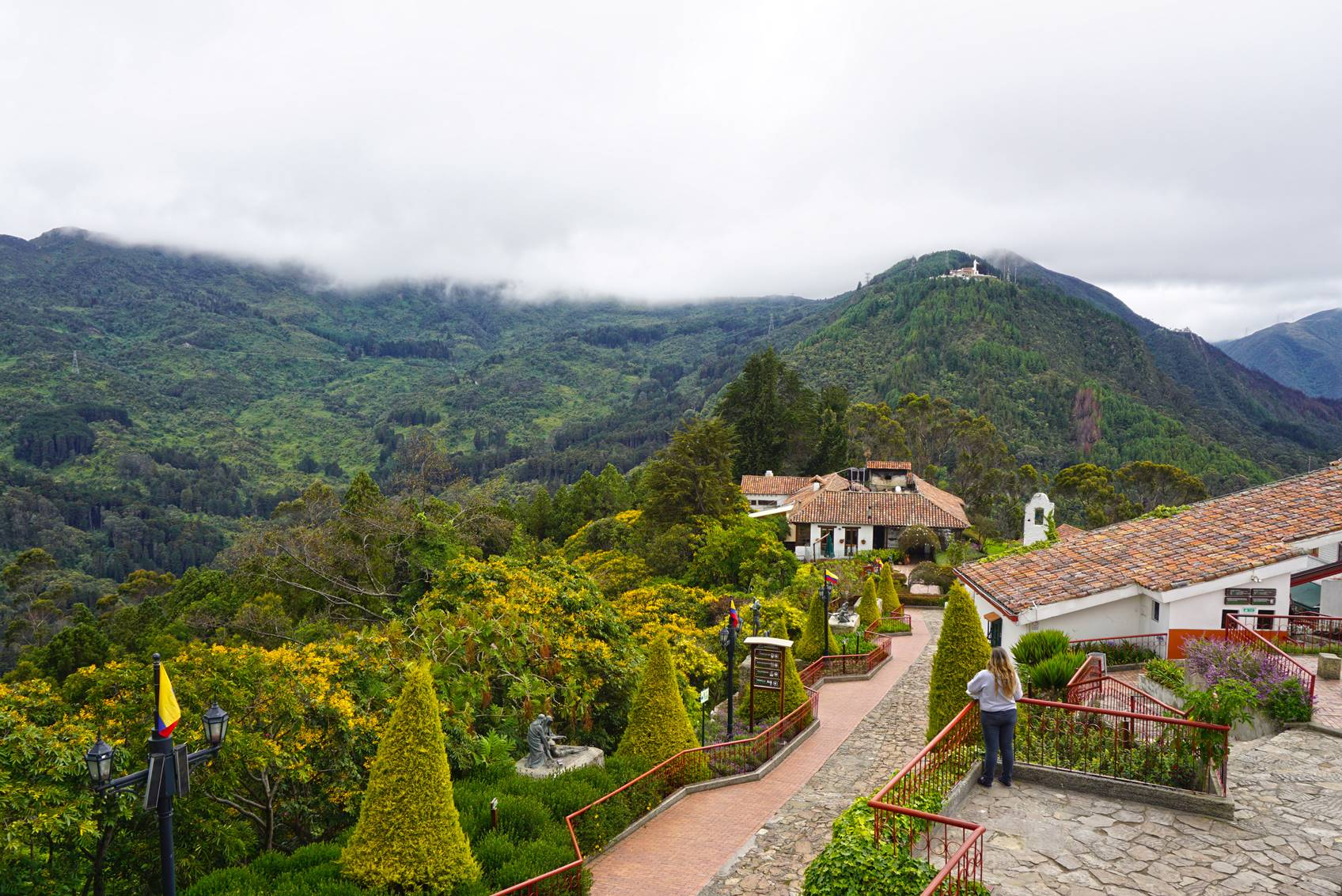 Monserrate mountain above Bogota, Colombia