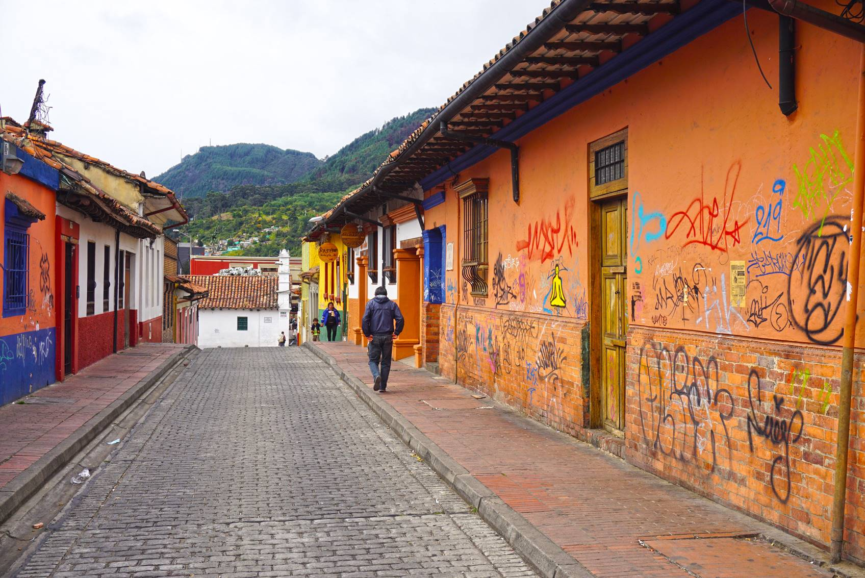 Streets of Candelaria Bogota, Colombia