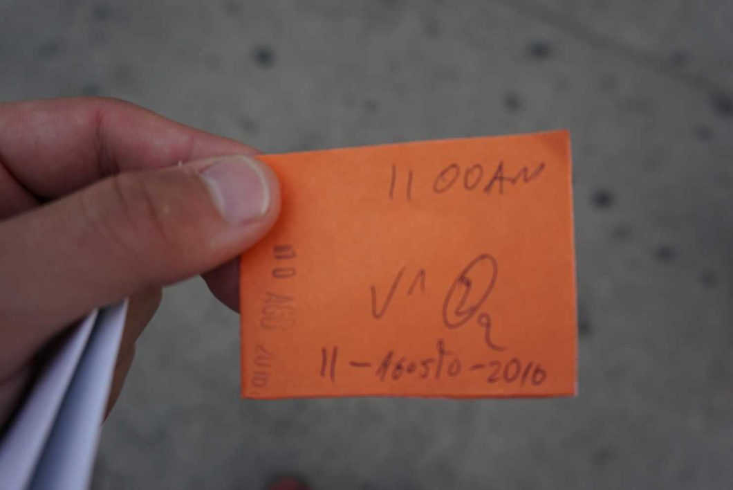 Bus ticket in Salento