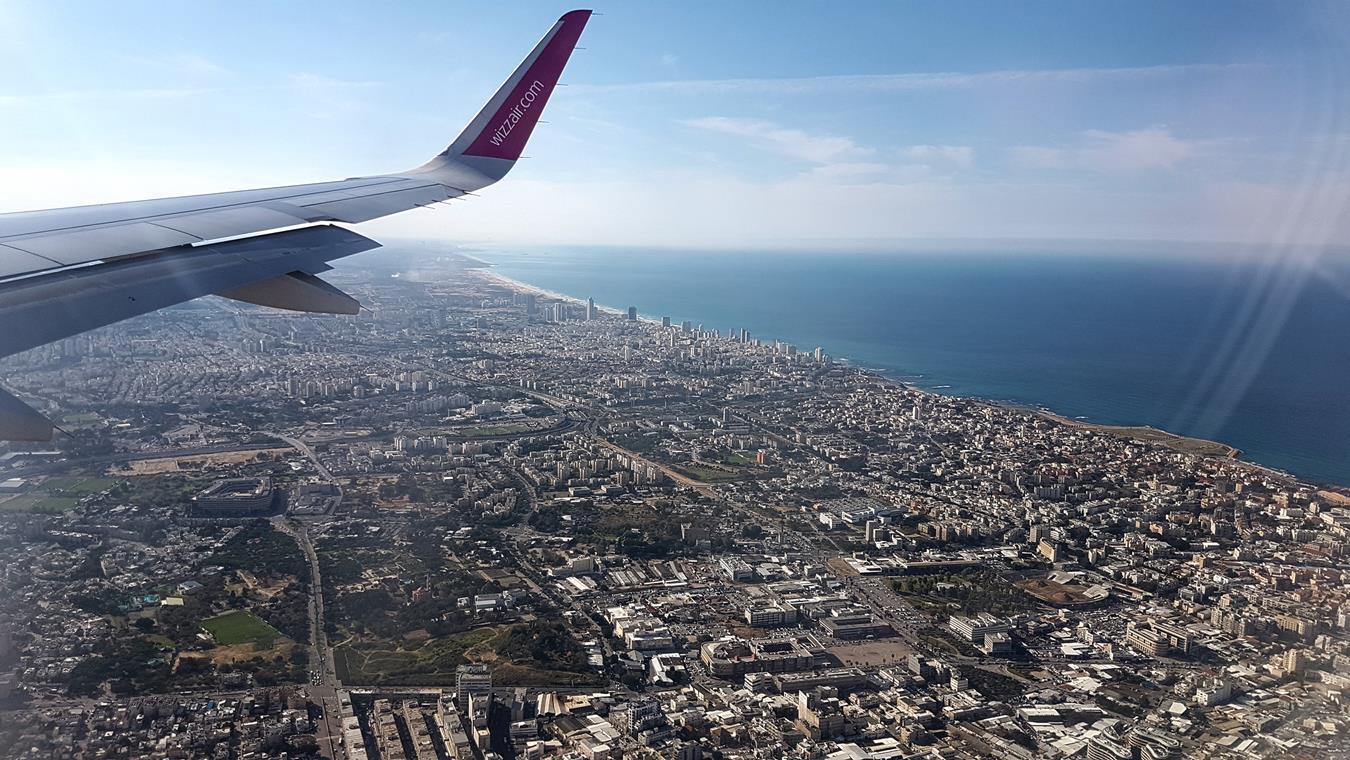 Landing in Tel Aviv