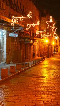 Night in Christian quarter