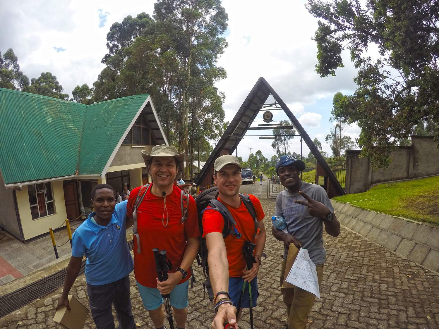 Machame gate with our guides