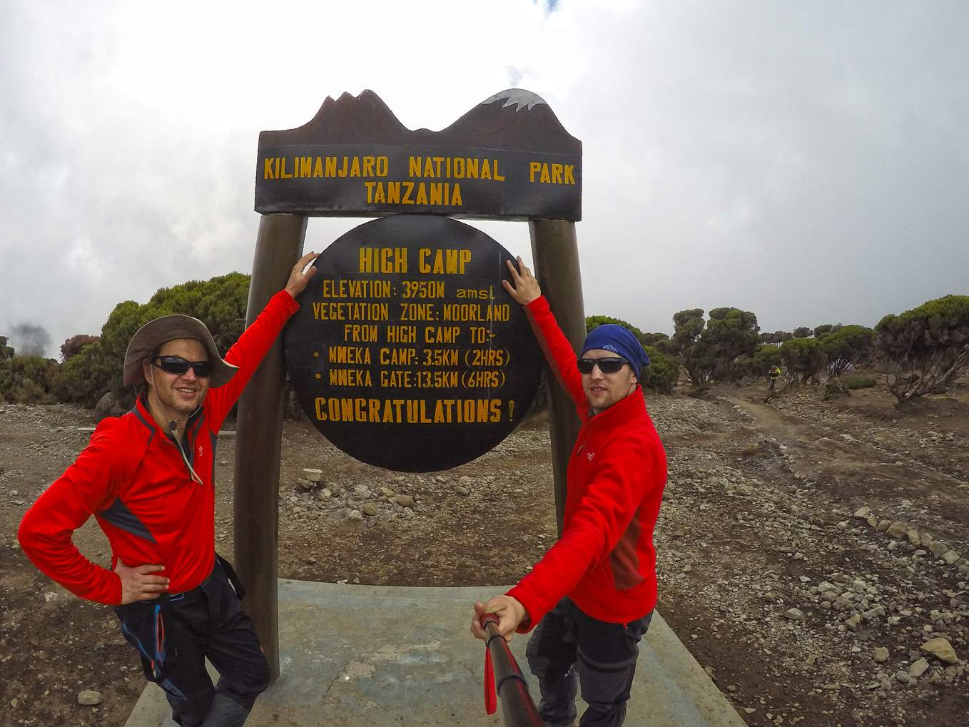 Last night at High Camp on Machame route 6 days