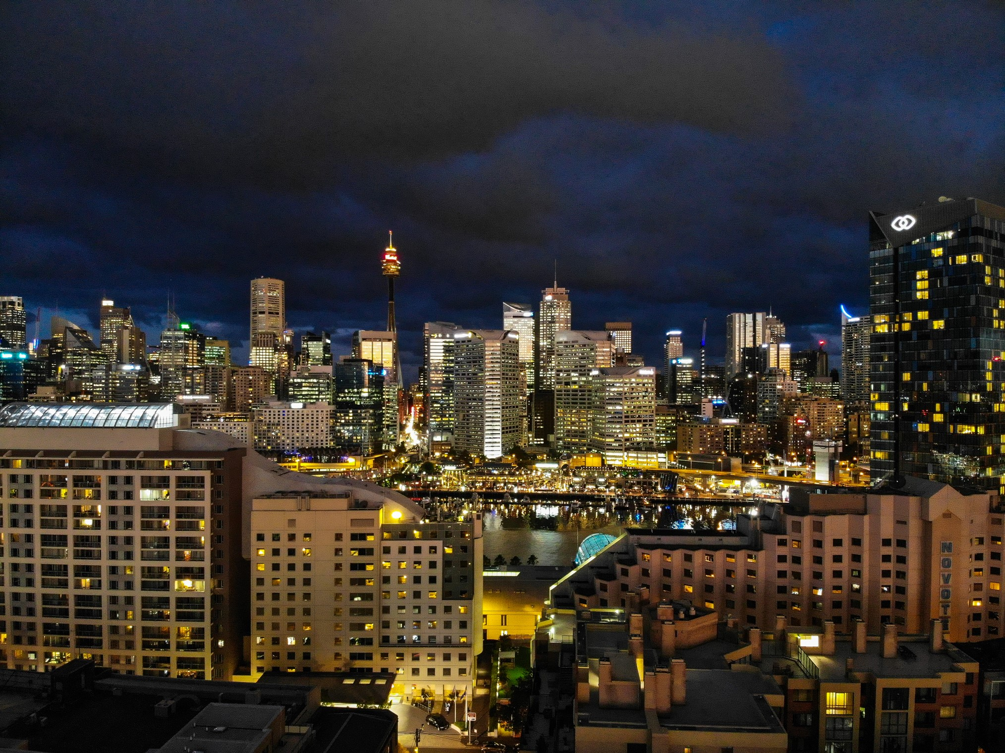 Sydney skyline in the night
