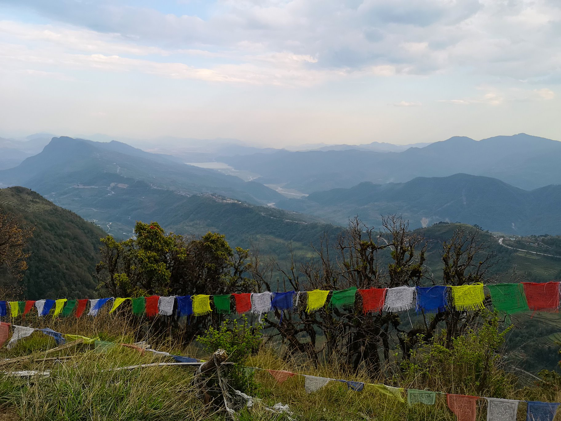 View from Australian camp in Nepal