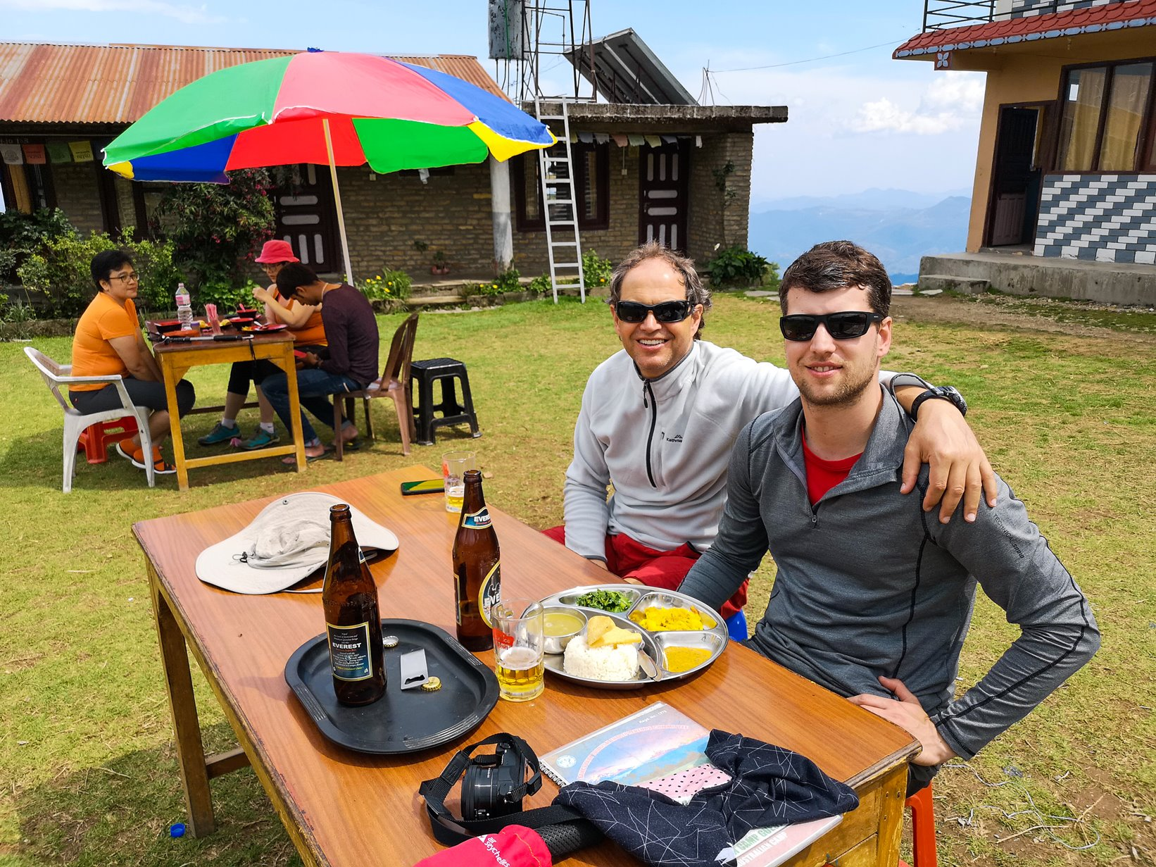 Having lunch at Australian camp in Nepal