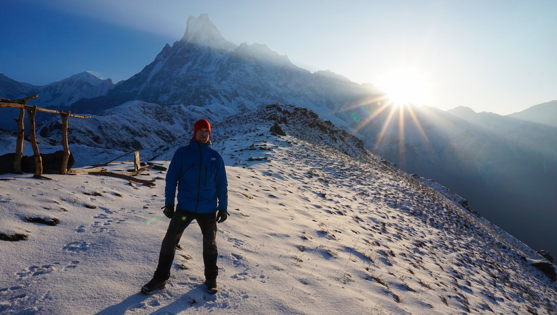 Mardi Himal lower viewpoint sunrise