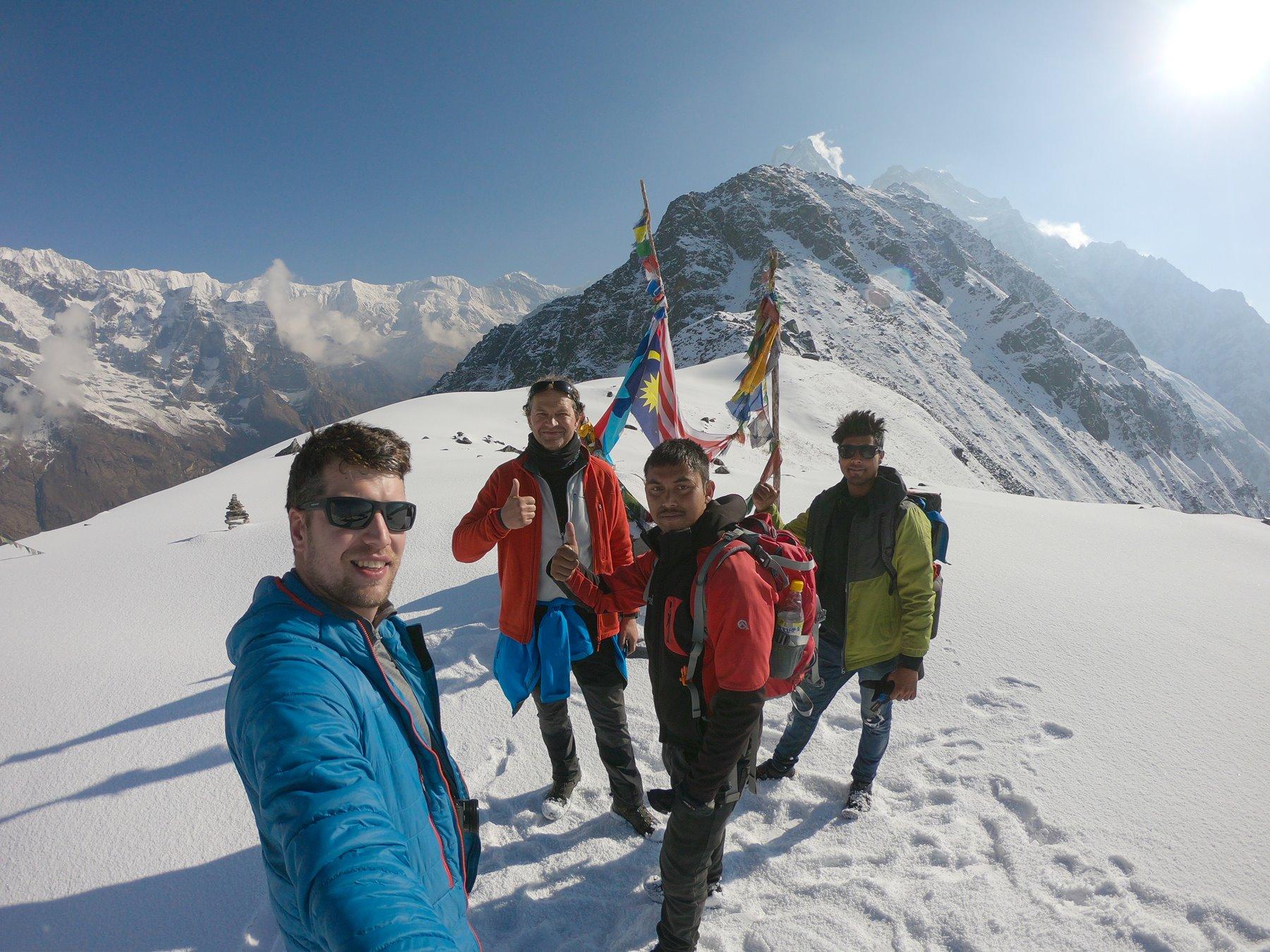 Made it to Mardi Himal base camp at 4.500 AMSL