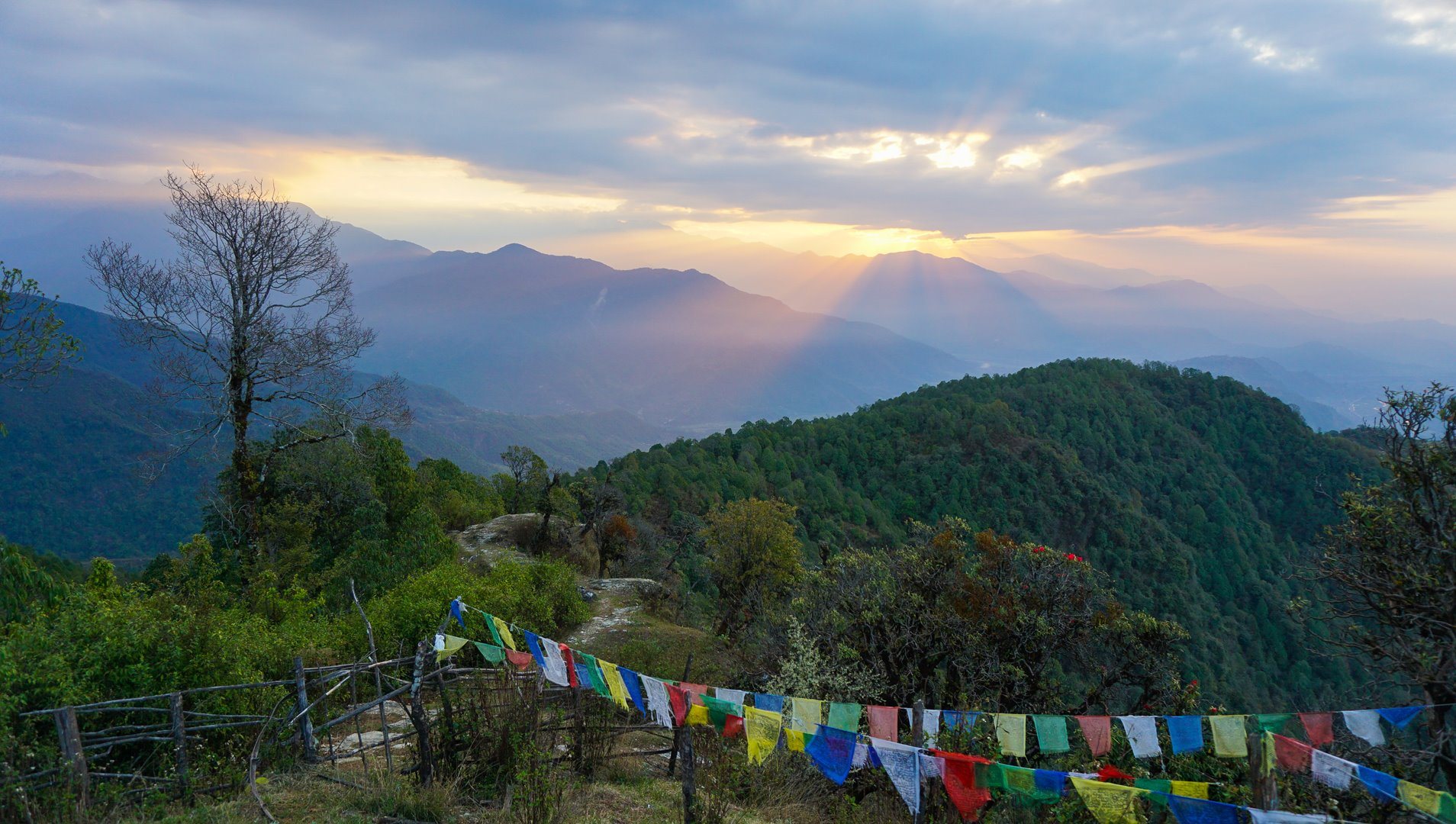 Sunrise from Australian camp Nepal