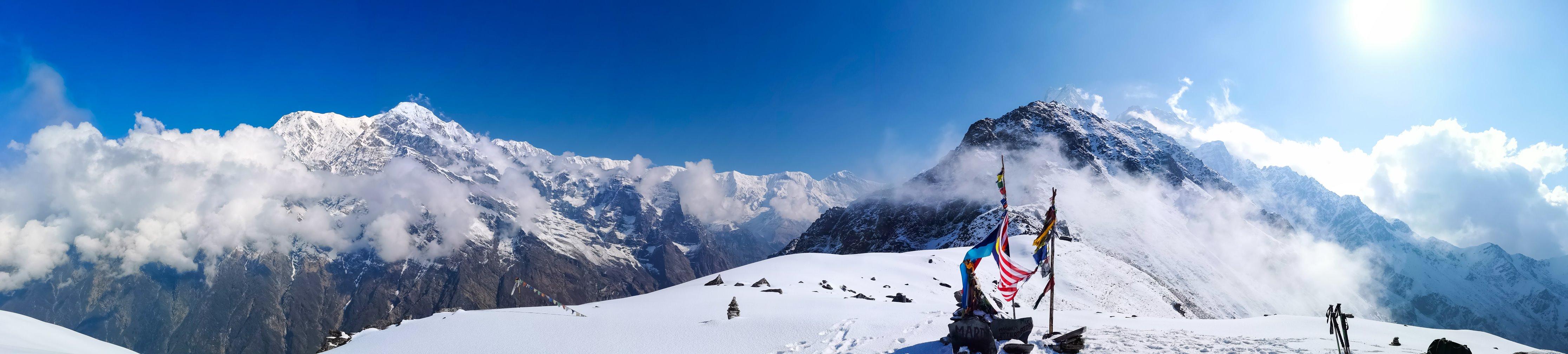 Mardi Himal base camp at 4.500 AMSL