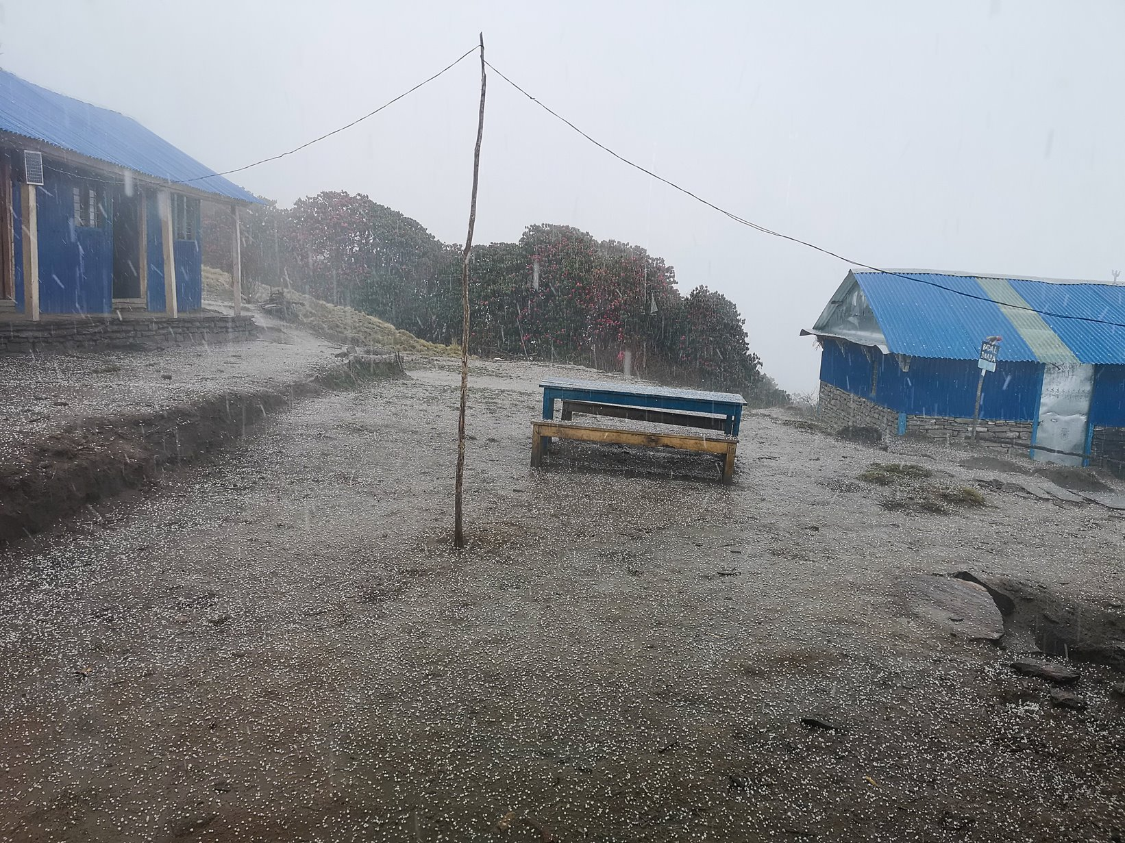 When it rains in Nepal it rains like this...