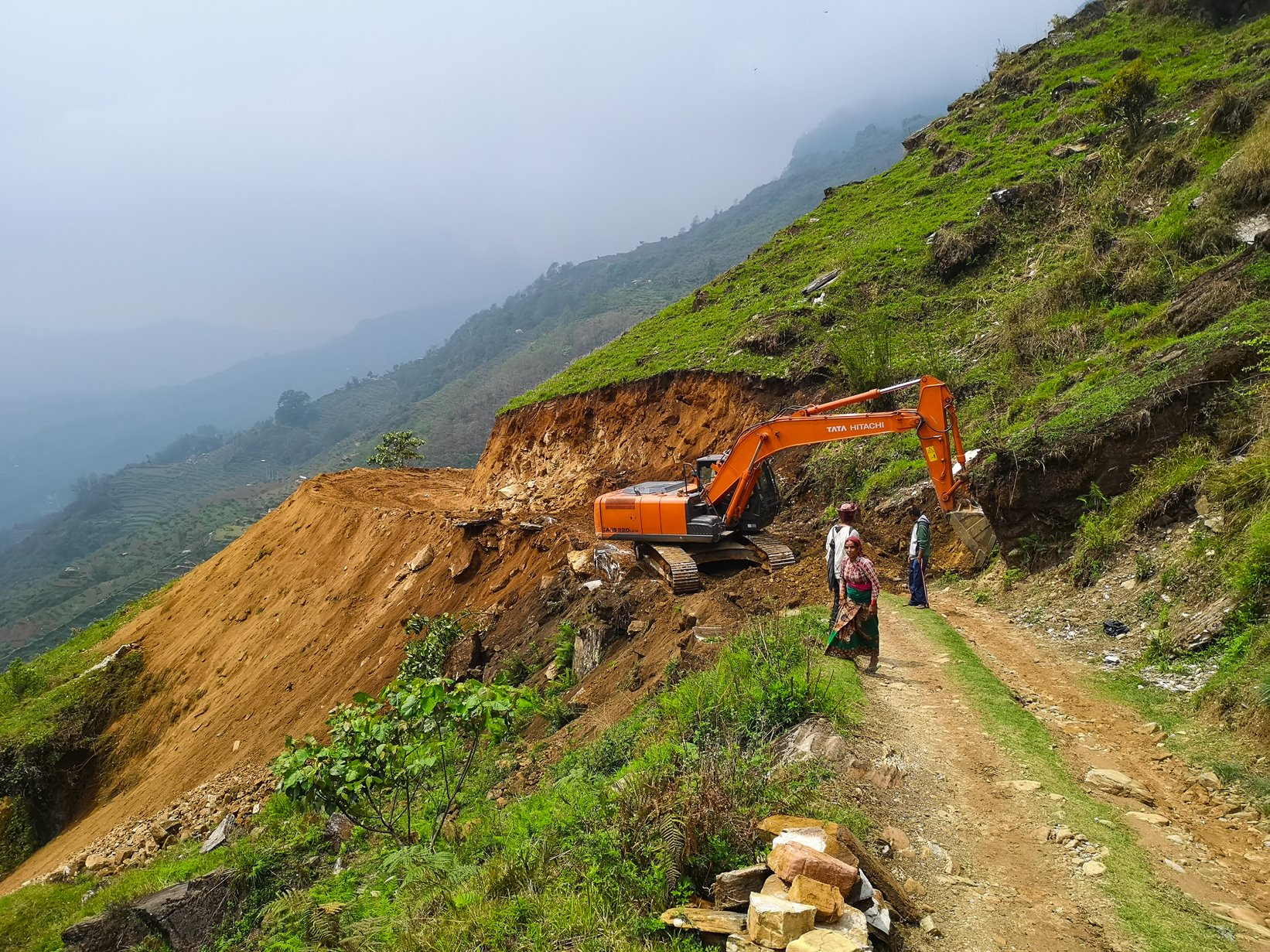Siding village road construction