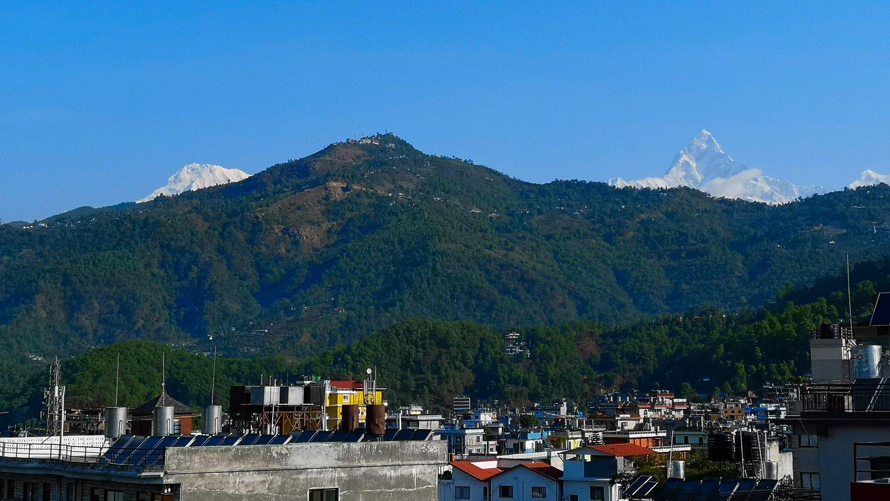 Pokhara hotel view