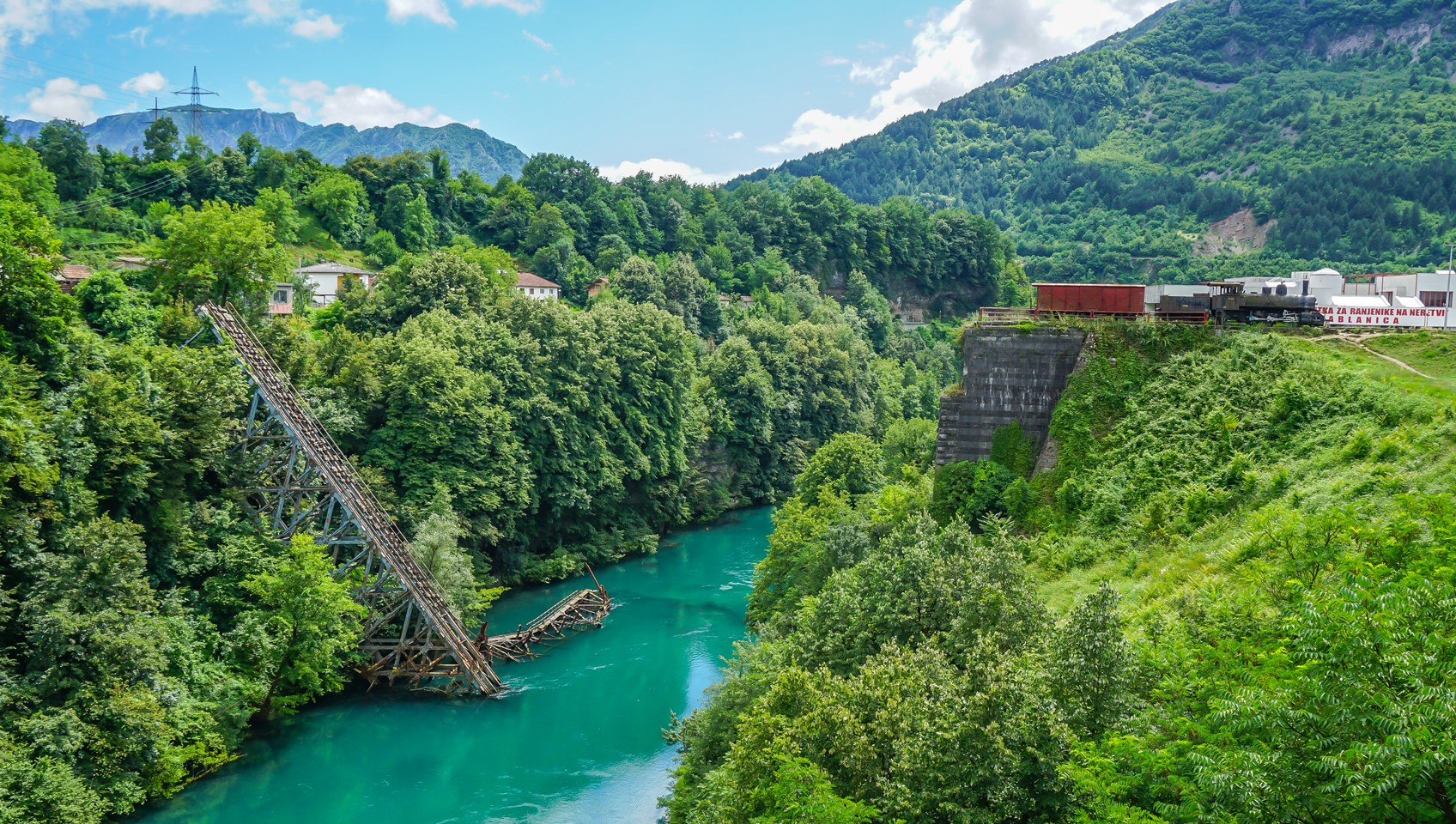 Jablanica destroyed railway bridge