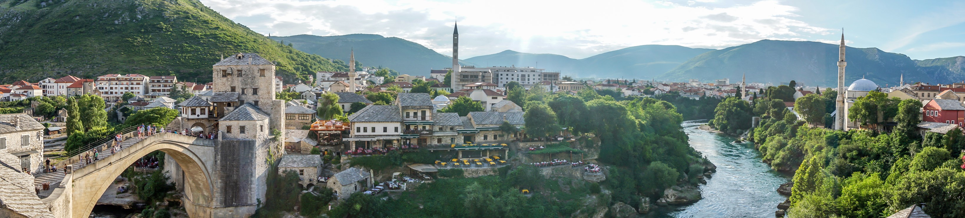 Panorama of old city Mostar