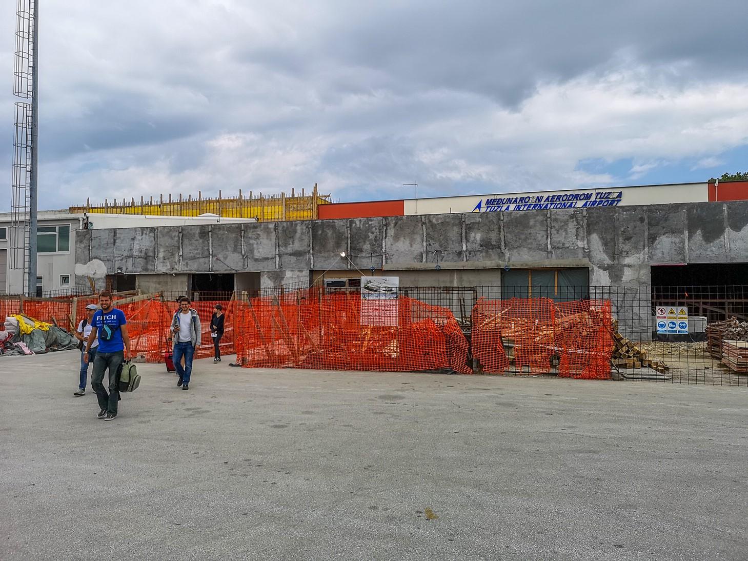 Scary Tuzla international airport