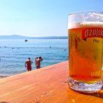 Ozujsko beer in Crikvenica, Croatia