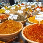 Spices in old city market