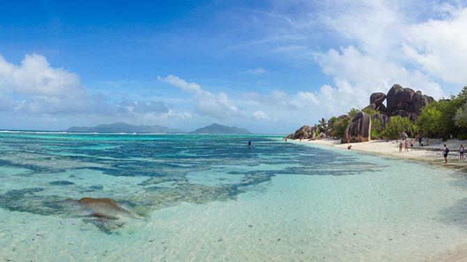 Source d´Argent beach, La Digue, Seychelles