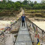 Some cool extended bridges on the way to Pokhara